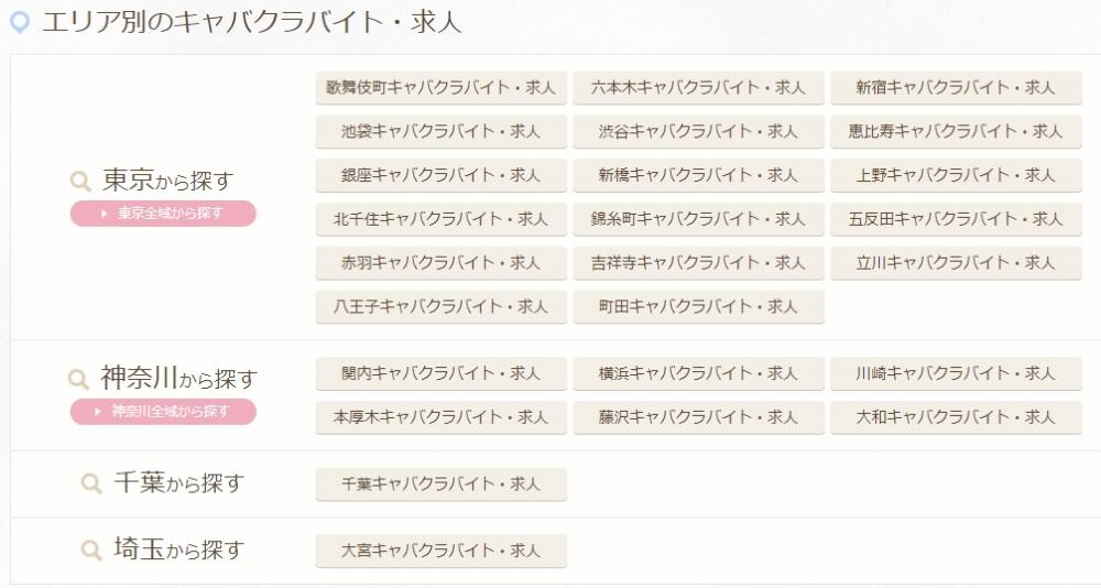 エリア別検索が便利!